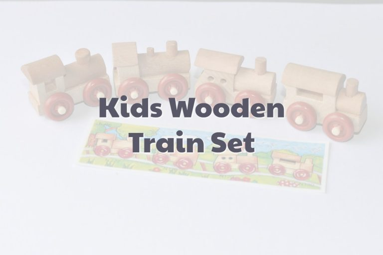 Kids Wooden Train Set For Toddlers