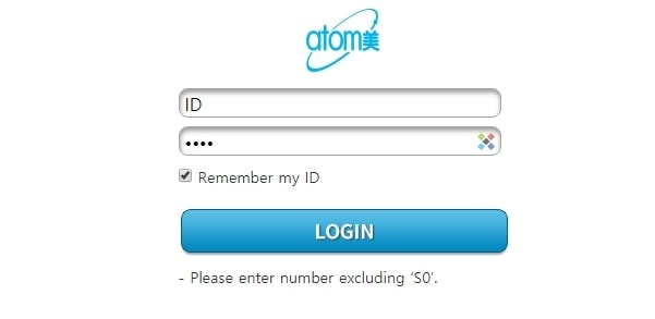 Atomy account verification