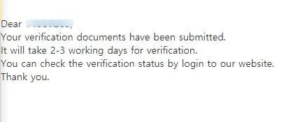 Confirmation of submission